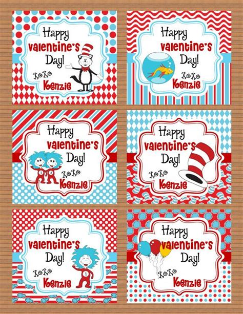 dr seuss valentines day personalized dr seuss cat in the hat class by