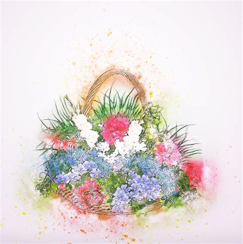 gambar desain bunga gambar abstrak menanam vintage daun bunga musim semi