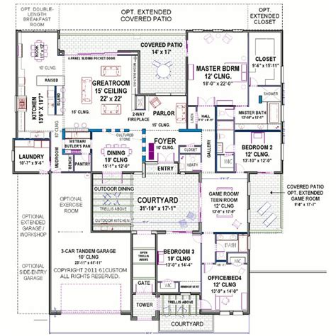 courtyard homes floor plans modern courtyard house plan home design house plans and
