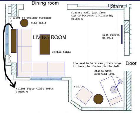 view post    arrange furniture   shaped living room