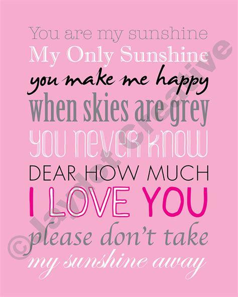 printable lyrics you are my sunshine you are my sunshine printable lyrics artwork by jaydotcreative