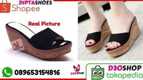 Sepatu Wanita Murah Hak Tinggi Wedges Bandung Cibaduyut Shoes Korea jual sepatu wanita high heels grosir murah terlaris sepatu wanita hak tinggi 089653134816
