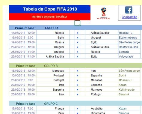 tabela excel para a copa 2018 copa do mundo guia de compra