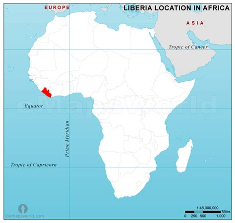 where is liberia located on the world map liberia location map in africa liberia location in