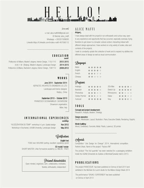 maffi interior and landscape designer resume by