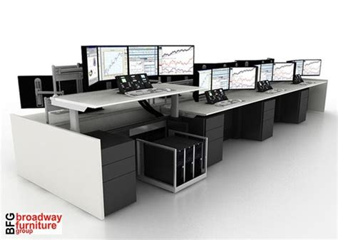Trading Desk Furniture by Trading Desk Benching System 12