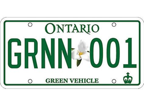 License Plate Lookup Ontario Ontario Unveils Green Licence Plate For Eco Friendly Vehicles Toronto
