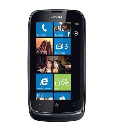 Nokia Lumia E610 nokia lumia 610 8gb black mobile phones at low prices snapdeal india