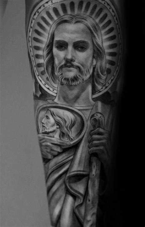 san judas tattoos 40 st jude designs for religious ink ideas