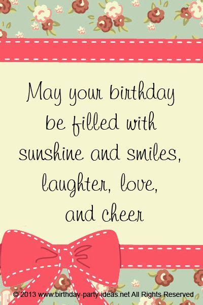 Birthday Wishes Quotes May Your Birthday Be Filled With Sunshine And Smiles