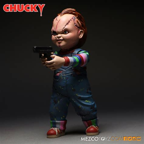 Mezco Child S Play Chucky 5 Inch Figure child s play chucky figure and replica doll pre orders by