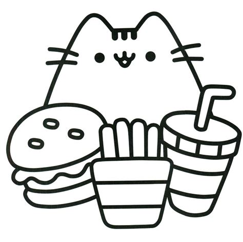 printable coloring pages pusheen pusheen coloring pages to print pictures to pin on