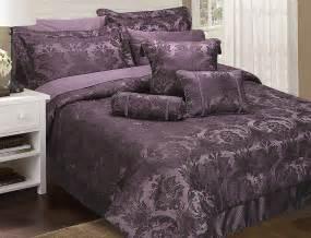 Duvet Cover 1000 Thread Count Carrington Purple Damson Damask Bedspread Throw Duvet
