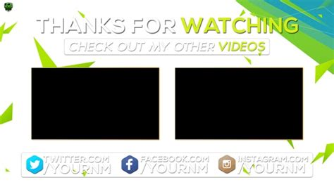 Outro Card Template by Dogs 2 Channel Banner Template
