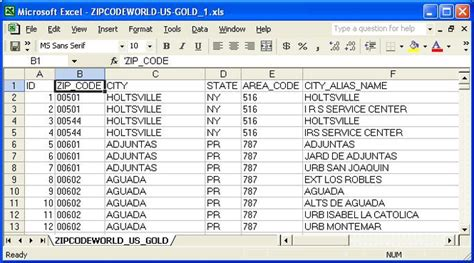 us zip codes free download download united states zip code database gold