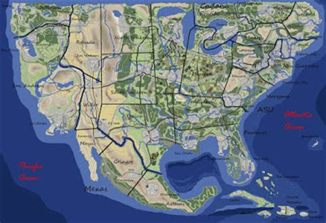 america map grand map of the week grand theft auto
