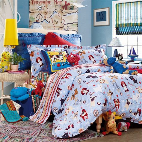 dog comforter 3 piece kids bedding set puppy family duvet cover bed