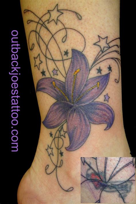 cover up flower tattoos flower cover up pictures to pin on tattooskid
