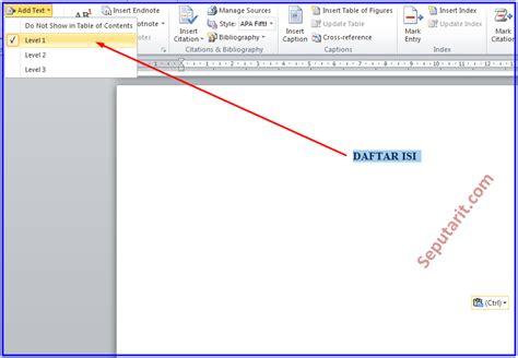 membuat daftar isi table of content cara cepat membuat daftar isi makalah otomatis di
