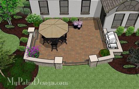 concrete patio designs layouts backyard patio 405 sq ft rectangular space