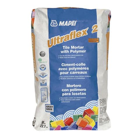 mapei ultraflex 2 gray 50 lb tile mortar with polymer 0060055l the home depot