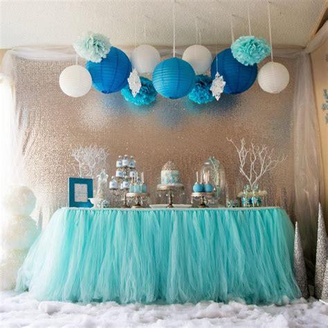 diy baby shower chair decorations aqua blue tutu table skirt custom made wedding supplies