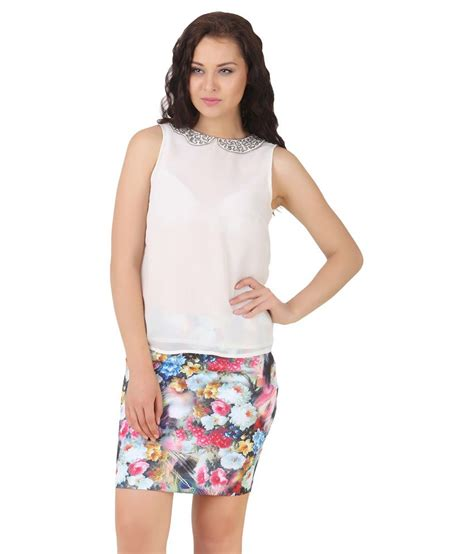 Lili Top Blouse buy lili blank white polyester tops at best prices in india snapdeal