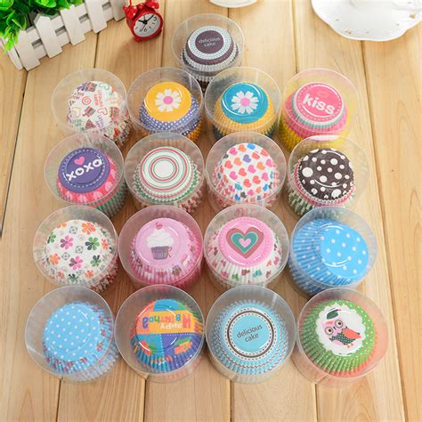 Colour Paper Doyleys 4 100pcs 100pcs lot rainbow color paper cupcake mold muffin cupcake paper cups tray baking decorating