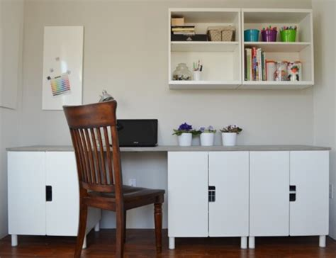 Used L Shaped Desk Stuva Desk Hack With Faux Concrete Tabletop Ikea Hackers