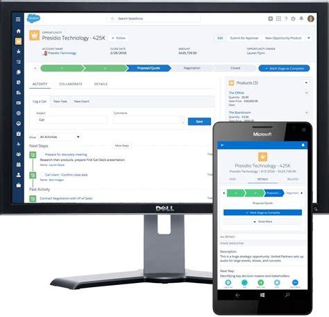 app per windows mobile salesforce1 mobile app jetzt f 252 r windows 10 mobile