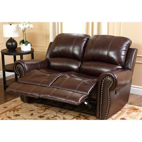 Abbyson Living Berkshire 3 Leather Reclining Furniture Set Burgundy by Abbyson Living Leather Reclining 2 Sofa Set