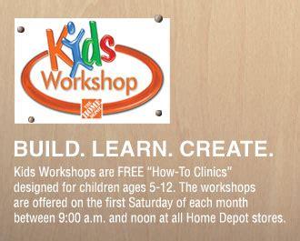 home depot kids workshops free weekly workshops home home depot kids workshop build an ems truck october 4