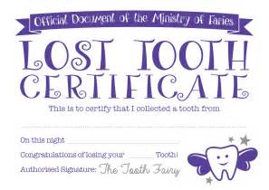 Free Tooth Certificate Template by Tooth Certificate Baby Hints And Tips