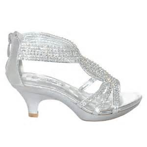 fabulous silver rhinestone band dress shoe toddler 9