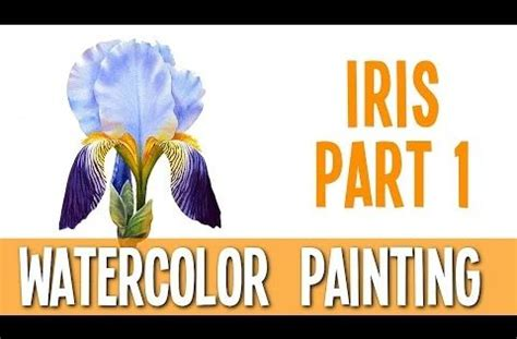 watercolor tutorial part 1 watercolor painting tutorial iris part 1 youtube