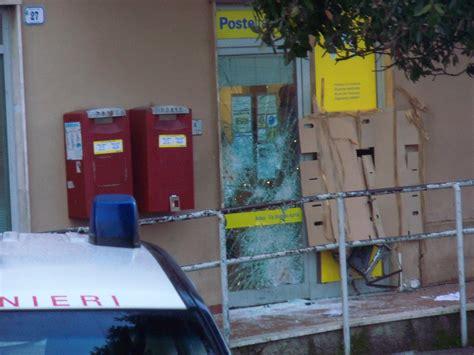 ufficio postale pomezia ardea esplosione nella notte fatto saltare il bancomat