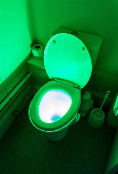 Jonny Glow Toilet Locater by Luminous Toilets Used In Care Homes To Cut Falls By