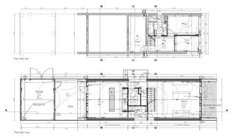 Maison Contemporaine En Bois Inspir 233 E De La Grange Plan Maison Contemporaine E Es Garage