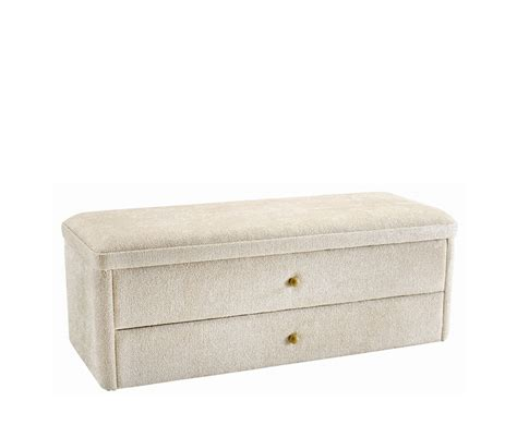 storage ottoman with drawers ottoman with drawers darcy fabric ottoman with drawers