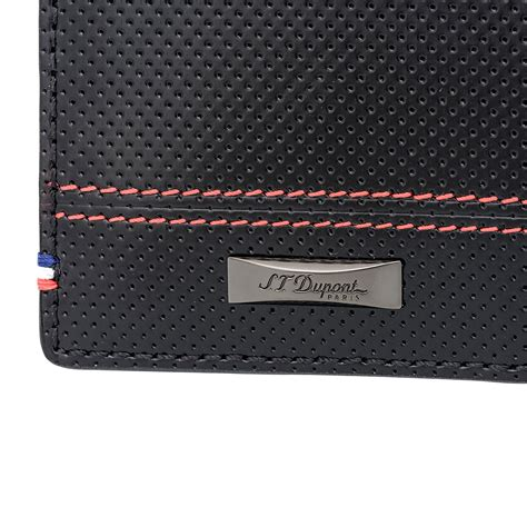 s t dupont mclaren defi perforated leather wallet st