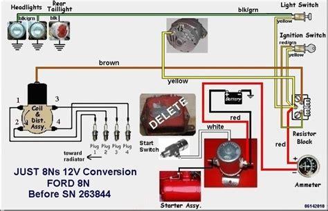 wiring diagram for ford 8n 12 volt readingrat regarding