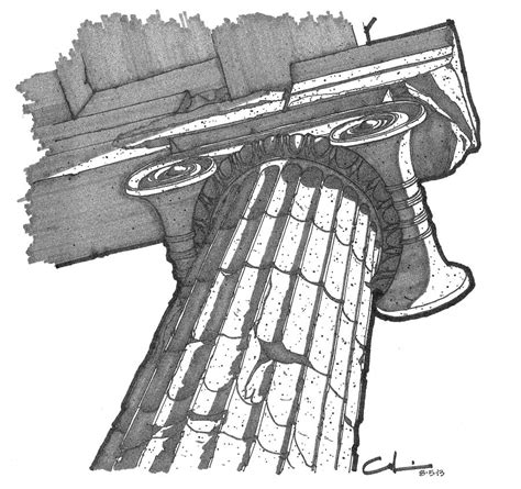 Interior Design App Android roman ionic column capital drawing by calvin durham