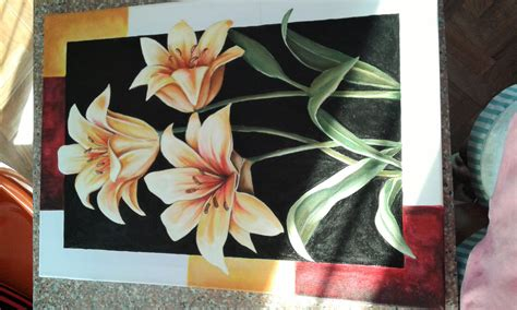 how to paint acrylic on canvas flowers painting flowers on canvas acrylic paint