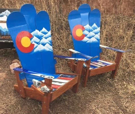 colorado ski chairs colorado mountain stencil adirondack snowboard chair our