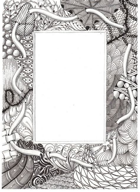 doodle pattern frame 123 best zentangle inspired art images on pinterest