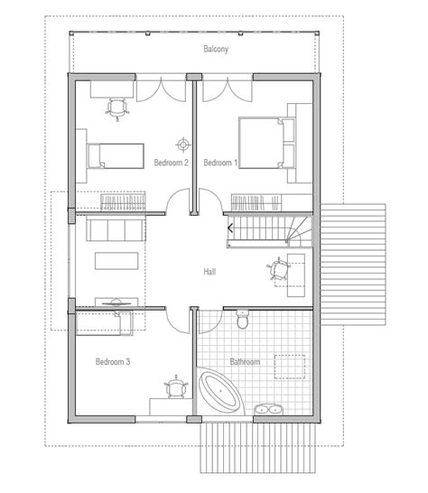 Most Economical House Plans by Affordable Home Ch137 Floor Plans With Low Cost To Build