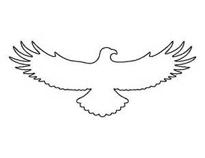 Flying Eagle Outline by Flying Eagle Pattern Use The Printable Outline For Crafts Creating Stencils Scrapbooking And
