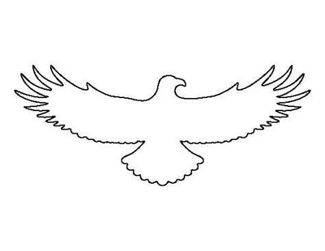 eagle template flying eagle pattern use the printable outline for crafts