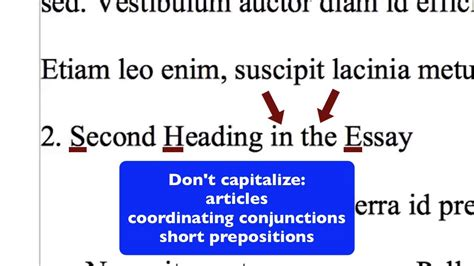 formatting mla style section headings  openoffice