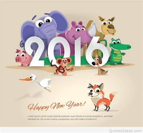 new year 2016 animal images animals design happy new year 2016